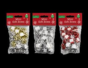 Wholesale Christmas Mini Gift Bows | Gem Imports Ltd