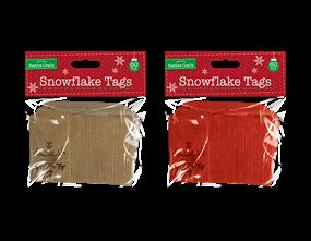 Wholesale Christmas Snowflake Tags | Gem Imports Ltd