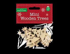 Wholesale Mini Wooden Christmas Trees 15 Pack | Gem Imports Ltd