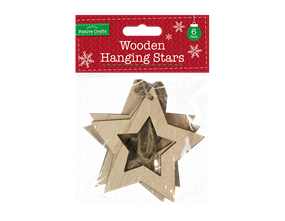 Wholesale Wooden Hanging Star  | Gem Imports Ltd