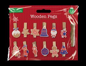 Wholesale Xmas Wooden Pegs | Gem Imports Ltd