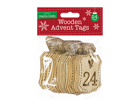 Wholesale Wooden Advent Tags 24 Pack | Gem Imports Ltd
