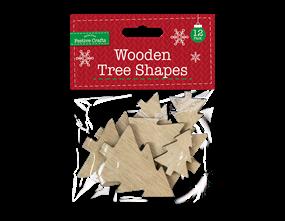 Wholesale Wooden Tree Shapes 12 Pack | Gem Imports Ltd