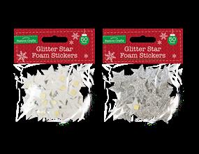 Wholesale Glitter Star Foam Stickers 50 Pack | Gem Imports Ltd