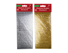 Wholesale Christmas Words Outline Stickers | Gem Imports Ltd