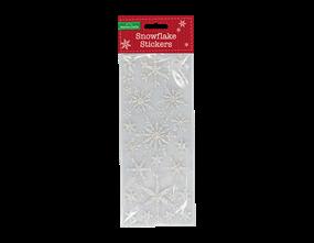 Wholesale Silver Glitter Snowflake Stickers | Gem Imports Ltd