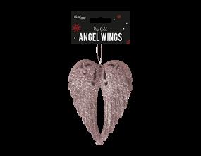 Wholesale Rose Gold Glittered Angel Wings | Gem Imports Ltd