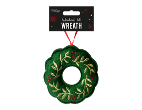 Wholesale Wreath Embroidered Felt Decoration  | Gem Imports Ltd