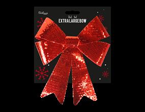 Wholesale Red Extra Large Foil Bow 57cm x 48cm x 9cm | Gem Imports Ltd
