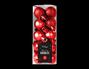 Wholesale Red Baubles 2.5cm Dia 20 Pack | Gem Imports Ltd