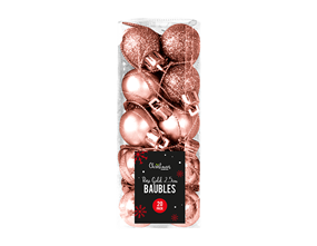 Wholesale Rose Gold Baubles 2.5cm | Gem Imports Ltd