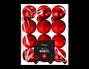 Wholesale Red Baubles 3.5cm Dia 12 Pack | Gem Imports Ltd