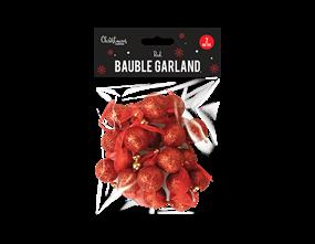 Wholesale Christmas Red Bauble Garland 2m | Gem Imports Ltd