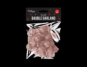 Wholesale Rose Gold Bauble Garland 2m | Gem Imports Ltd