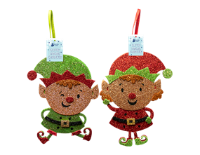 Wholesale Felt Glitter Hanging Decoration | Gem Imports Ltd