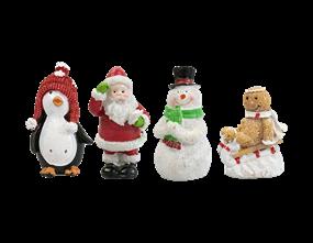 Wholesale Glittery Xmas Character Ornaments PDQ | Gem Imports Ltd