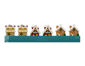 Wholesale Glittery House Ornaments PDQ    Gem Imports Ltd