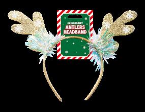 Wholesale Christmas Iridescent Antlers Headband | Gem Imports Ltd