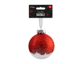Wholesale Red Extra Large Bauble Dia 10cm | Gem Imports Ltd