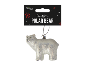 Wholesale Glitter Polar Bear Decoration   Gem Imports Ltd