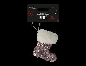 Wholesale Rose Gold Sequin Boot Decoration   Gem Imports Ltd