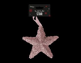 Wholesale Rose Gold Extra Large Jewelled Star Decoration | Gem Imports Ltd