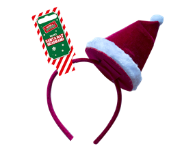 Wholesale Velvet Santa Hat Headband | Gem Imports Ltd