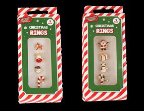 Wholesale Xmas Rings 4 Pack   Gem Imports Ltd