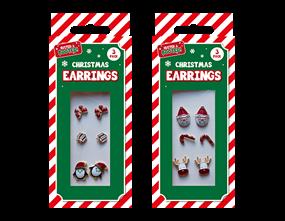 Wholesale Xmas Earrings 3 Pack | Gem Imports Ltd