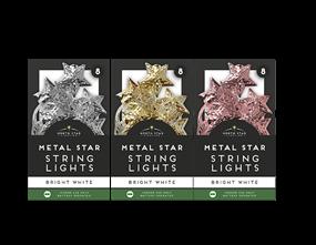 Wholesale Metal Star String Lights - 8 Leds | Gem Imports Ltd