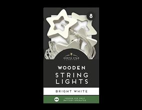 Wholesale Wooden String Lights - 8 Leds | Gem Imports Ltd