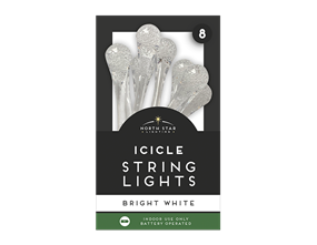 Wholesale Icicle String Lights - 8 Leds | Gem Imports Ltd