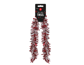 Wholesale Red & White Tinsel 2m | Gem Imports Ltd