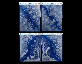 Wholesale Xmas Glitter Scene Stickers | Gem Imports Ltd