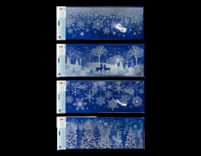Wholesale Xmas Glitter Window Decoration Stickers | Gem Imports Ltd