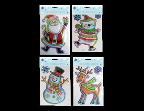 Wholesale Xmas 3D Holographic Figure Stickers | Gem Imports Ltd