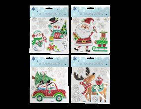 Wholesale Xmas Foil Textured Wall Stickers | Gem Imports Ltd