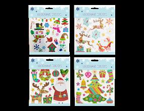Wholesale Xmas Holographic Colourful Stickers | Gem Imports Ltd