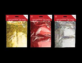 Wholesale Holographic Medium Gift Bags 3 Pack   Gem Imports Ltd