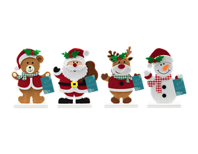 Wholesale Christmas Character Felt Ornament   Gem Imports Ltd