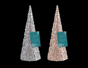 Wholesale Glitter/Pearl Christmas Tree Ornament 25cm | Gem Imports Ltd