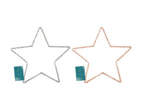 Wholesale Glittery Hanging Star Dec 35cm | Gem Imports Ltd