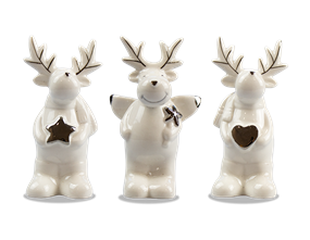Wholesale Ceramic Reindeer Ornament | Gem Imports Ltd