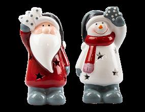 Wholesale Ceramic Christmas Character LED Ornament | Gem Imports Ltd