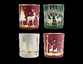 Wholesale Christmas Scene Tea Light Holder | Gem Imports Ltd