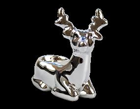 Wholesale Mirrored Reindeer Tea Light Holder | Gem Imports Ltd