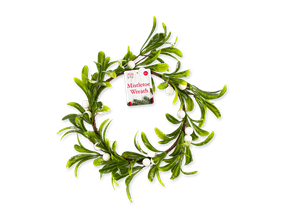 Wholesale Mistletoe Wreath 25cm | Gem Imports Ltd