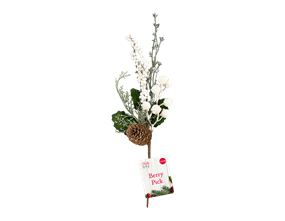 Wholesale Artificial White Berry Pick 27cm PDQ | Gem Imports Ltd