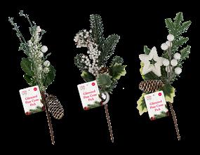 Wholesale Artificial Glittered Pine Cone Pick  | Gem Imports Ltd