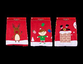 Wholesale Jumbo Fabric Santa Sack 70 x 50cm | Gem Imports Ltd